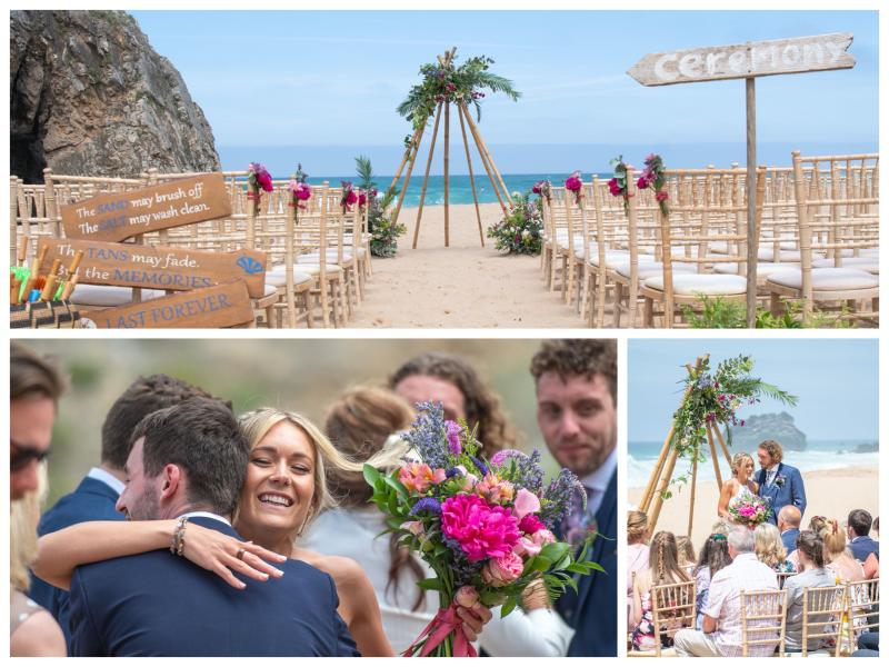 Beach Ceremony at My Vintage Wedding Portugal