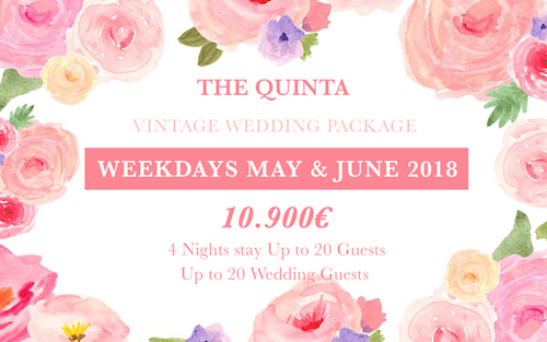 weekdays June and may wedding package