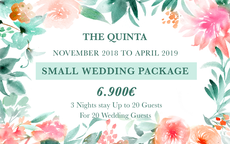 November April Small Wedding Package Portugal