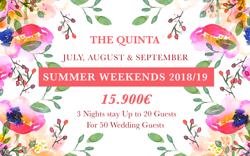 Weekends Wedding Summer Package Portugal
