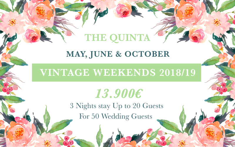 weekends May June October Weekdays Wedding Package