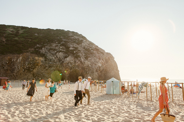 beach wedding in adraga beach
