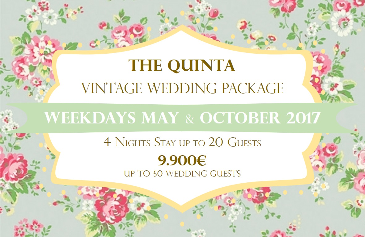 the quinta my vintage wedding in portugal may october weekdays wedding package