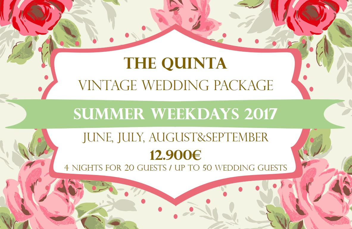 the quinta my vintage wedding in portugal summer weekdays wedding package 2017